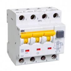 Выключатель автоматический дифференциальный АВДТ 34 3п+N 10А C 30мА тип A   MAD22-6-010-C-30   IEK