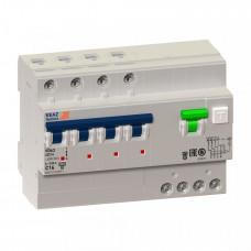 Выключатель автоматический дифференциальный OptiDin VD63-41C10-A-УХЛ4 4п 10А C 10мА тип A | 103471 | КЭАЗ