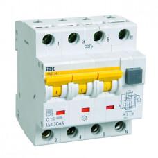 Выключатель автоматический дифференциальный АВДТ 34 3п+N 50А C 30мА тип A   MAD22-6-050-C-30   IEK