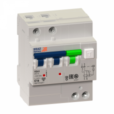 Выключатель автоматический дифференциальный OptiDin VD63-23C50-AS-УХЛ4 (селективный) 2п 50А C 100мА тип A | 222722 | КЭАЗ