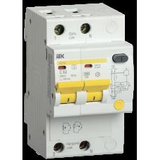 Выключатель автоматический дифференциальный АД12S 2п 25А C 300мА тип AC (3 мод) | MAD13-2-025-C-300 | IEK