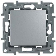 Etika Алюминий Выключатель 1-клавишный, авт.клеммы, 10AX, 250 В   672401   Legrand