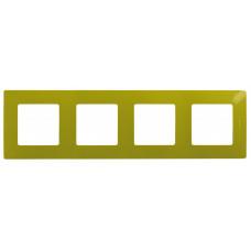 Etika Зеленый Папоротник Рамка 4-ая   672544   Legrand