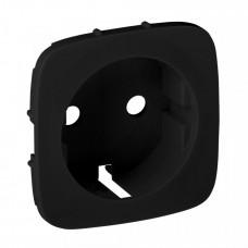 Valena ALLURE Антрацит Накладка розетки с/з с зажимами 6кв.мм. | 755258 | Legrand