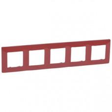 Etika Красная Рамка 5-ая   672535   Legrand