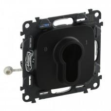 Valena ALLURE Антрацит Выключатель с ключом, 2 положения, 10А 230Вм (с лицевой панелью) | 755238 | Legrand