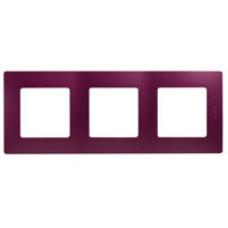 Etika Сливовая Рамка 3-ая   672563   Legrand