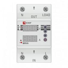 Реле напряжения и тока с дисплеем MRVA 25A EKF PROxima | MRVA-25A | EKF