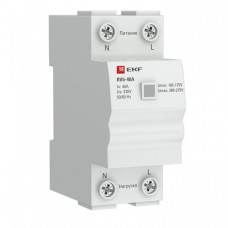 Реле напряжения (сквозное подкл.) RVb-63A EKF Basic | rvb-63a | EKF
