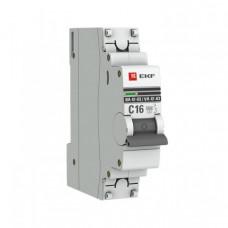 Выключатель автоматический однополюсный ВА 47-63 16А C 6кА PROxima | mcb4763-6-1-16C-pro | EKF