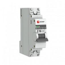 Выключатель автоматический однополюсный ВА 47-63 16А C 4,5кА PROxima   mcb4763-1-16C-pro   EKF