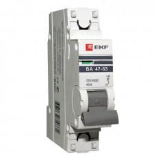 Выключатель автоматический однополюсный ВА 47-63 25А B 4,5кА PROxima   mcb4763-1-25B-pro   EKF