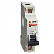 Автоматический выключатель ВА 47-63, 1P 63А (В) 4,5kA EKF   mcb4763-1-63B   EKF