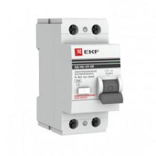Выключатель дифференциальный (УЗО) ВД-100 2п 16А 30мА тип AC PROxima | elcb-2-16-30-em-pro | EKF