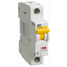 Выключатель автоматический однополюсный ВА47-60 6А D 6кА | MVA41-1-006-D | IEK
