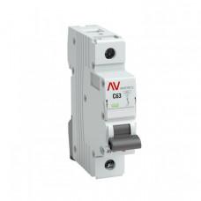Выключатель автоматический однополюсный AV-6 20А D 6кА AVERES | mcb6-1-20D-av | EKF