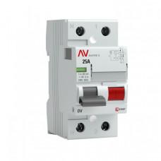Выключатель дифференциальный (УЗО) DV 2п 25А 100мА тип AC AVERES | rccb-2-25-100-ac-av | EKF