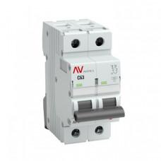 Выключатель автоматический двухполюсный AV-10 20А C 10кА AVERES | mcb10-2-20C-av | EKF