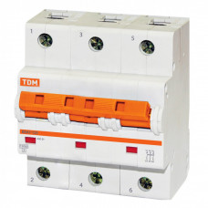 Выключатель автоматический трехполюсный ВА47-125 80А C 15кА   SQ0208-0082   TDM