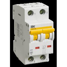 Выключатель автоматический двухполюсный ВА47-60 1А D 6кА | MVA41-2-001-D | IEK