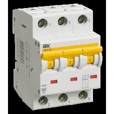 Выключатель автоматический трехполюсный ВА47-60 10А D 6кА | MVA41-3-010-D | IEK