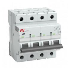 Выключатель автоматический четырехполюсный AV-6 3А D 6кА AVERES | mcb6-4-03D-av | EKF