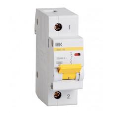 Выключатель автоматический однополюсный ВА47-100 16А D 10кА | MVA40-1-016-D | IEK