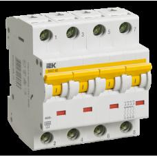Выключатель автоматический четырехполюсный ВА47-60 2А D 6кА | MVA41-4-002-D | IEK