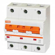 Выключатель автоматический трехполюсный ВА47-125 50А D 15кА | SQ0208-0032 | TDM