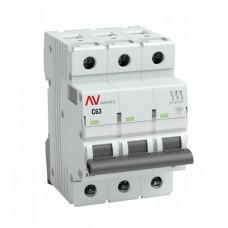 Выключатель автоматический трехполюсный AV-6 10А C 6кА AVERES   mcb6-3-10C-av   EKF