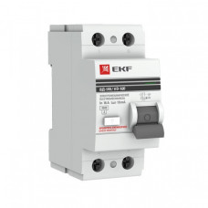 Устройство защитного отключения УЗО ВД-100 2P 25А/100мА (электромеханическое) EKF PROxima | elcb-2-25-100-em-pro | EKF