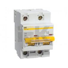 Выключатель автоматический двухполюсный ВА47-100 63А C 10кА | MVA40-2-063-C | IEK