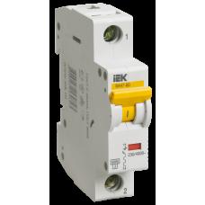 Выключатель автоматический однополюсный ВА47-60 1А D 6кА | MVA41-1-001-D | IEK