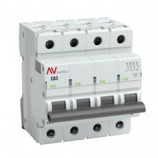 Выключатель автоматический четырехполюсный AV-10 4А D 10кА AVERES   mcb10-4-04D-av   EKF