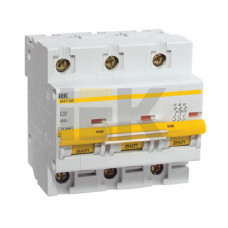 Выключатель автоматический трехполюсный ВА47-100 35А D 10кА | MVA40-3-035-D | IEK