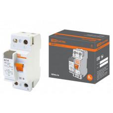 Выключатель дифференциальный (УЗО) ВД63 2п 63А 30мА тип AC (электронный) | SQ0220-0005 | TDM
