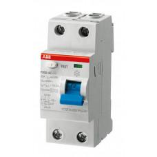 Выключатель дифференциальный (УЗО) F202 2п 40А 100мА тип A S (селективный) | 2CSF202201R2400 | ABB