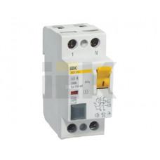 Выключатель дифференциальный (УЗО) ВД1-63S 2п 25А 100мА тип AC | MDV12-2-025-100 | IEK
