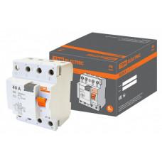 Выключатель дифференциальный (УЗО) ВД63 4п 40А 30мА тип AC (электронный) | SQ0220-0009 | TDM