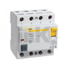 Выключатель дифференциальный (УЗО) ВД1-63 4п 25А 30мА тип AC | MDV10-4-025-030 | IEK