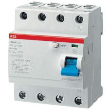Выключатель дифференциальный (УЗО) F204 4п 100А 500мА тип A S (селективный) | 2CSF204201R4900 | ABB