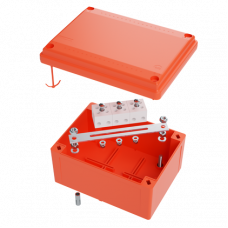 Коробка пластиковая FS с гладкими стенками и клеммниками, IP56,100х100х50мм, 5р, 450V,20A,10мм.кв | FSB10510 | DKC