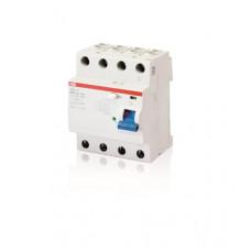 Выключатель дифференциальный (УЗО) F204 4п 63А 500мА тип B S (селективный) | 2CSF204892R4630 | ABB