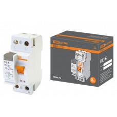 Выключатель дифференциальный (УЗО) ВД63 2п 50А 30мА тип AC (электронный) | SQ0220-0012 | TDM