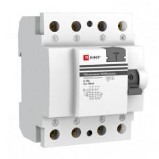 Выключатель дифференциальный (УЗО) ВД-100 (селективный) 4п 40А 300мА тип AC PROxima (электронный)   elcb-4-40-300S-pro   EKF
