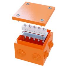 Коробка стальная FS с кабельными вводами и клеммниками,IP55,150х150х80мм,6р,450V,20A,10мм.кв, нерж.контакт | FSK31610 | DKC