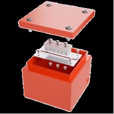 Коробка стальная FS с гладкими стенками и клеммниками, IP66,150х150х80мм,5р, 450V,10A, 6мм.кв. | FSB30506 | DKC