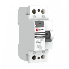 Выключатель дифференциальный (УЗО) ВД-100 (селективный) 2п 40А 300мА тип AC PROxima (электронный)   elcb-2-40-300S-pro   EKF