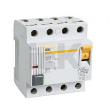Выключатель дифференциальный (УЗО) ВД1-63S 4п 63А 100мА тип AC | MDV12-4-063-100 | IEK