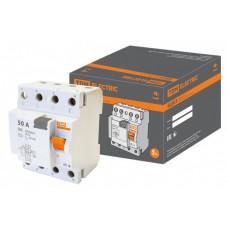 Выключатель дифференциальный (УЗО) ВД63 4п 50А 30мА тип AC (электронный) | SQ0220-0011 | TDM